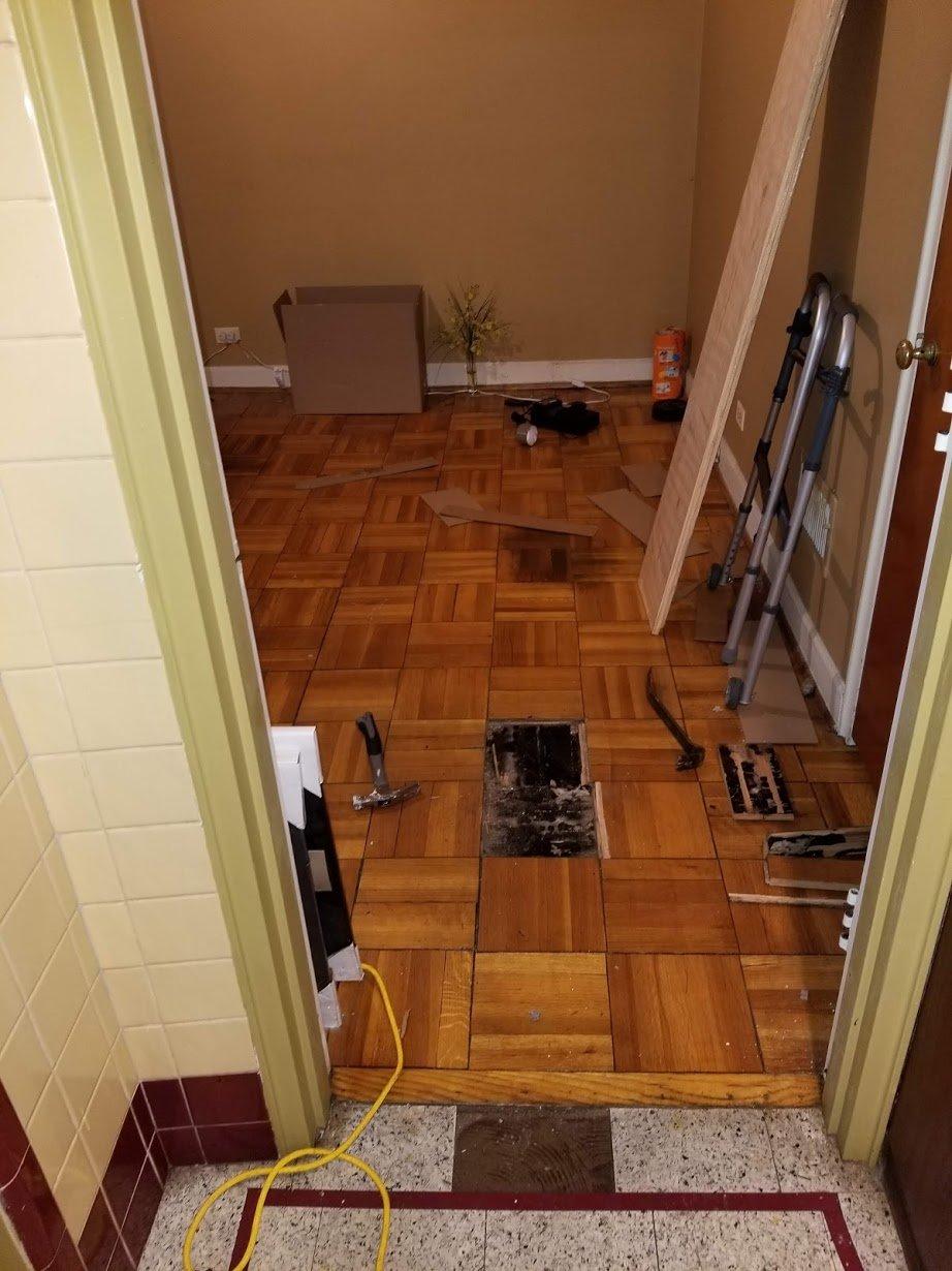 Before Flooring
